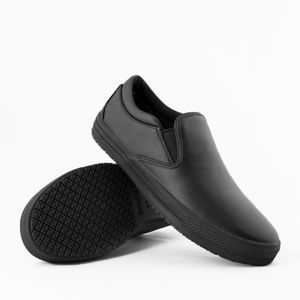slip resistant leather shoes